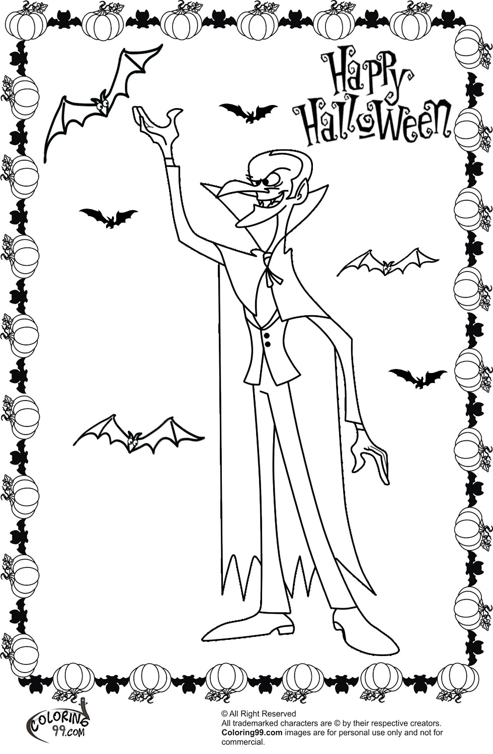 halloween dracula coloring pages team colors
