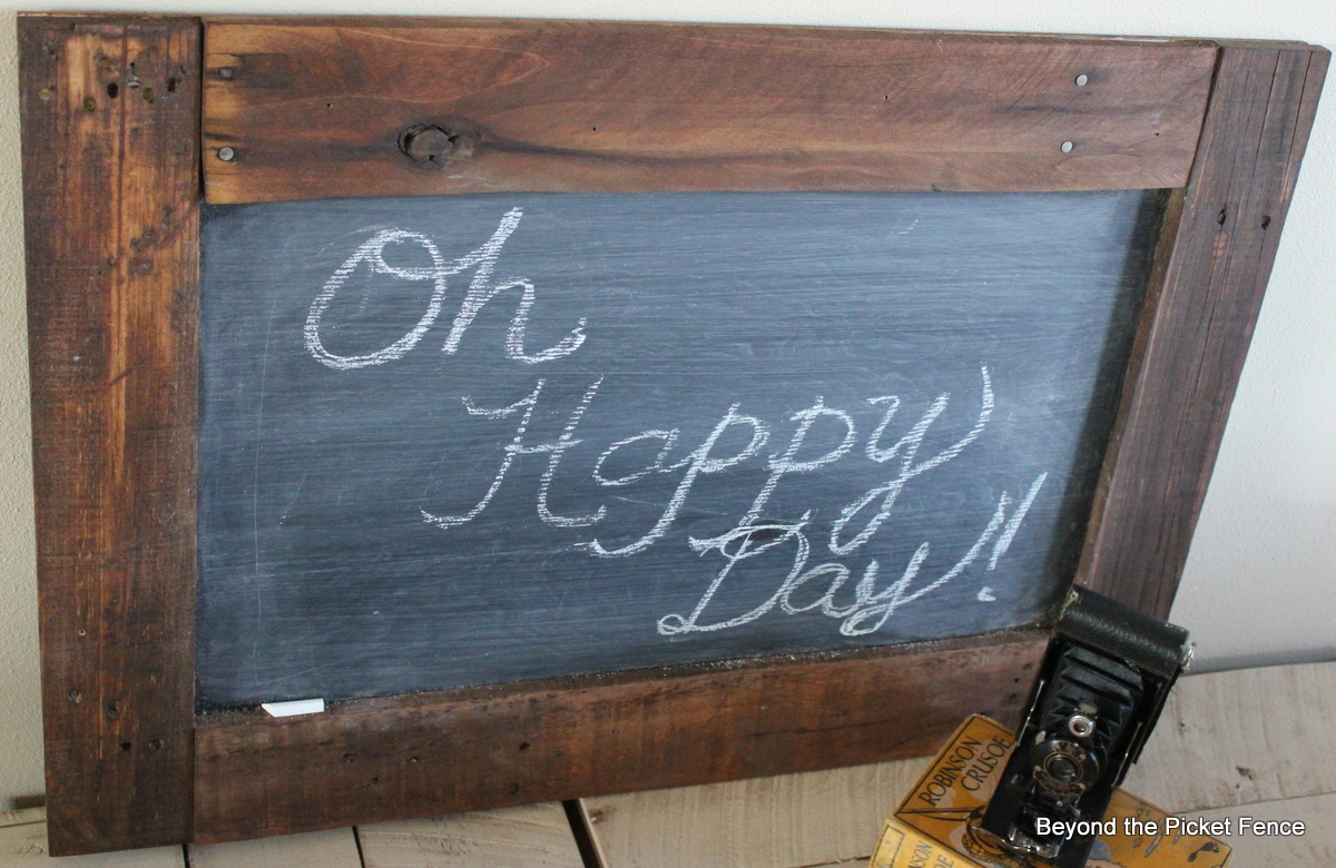 Beyond The Picket Fence Rustic Reclaimed Chalkboard