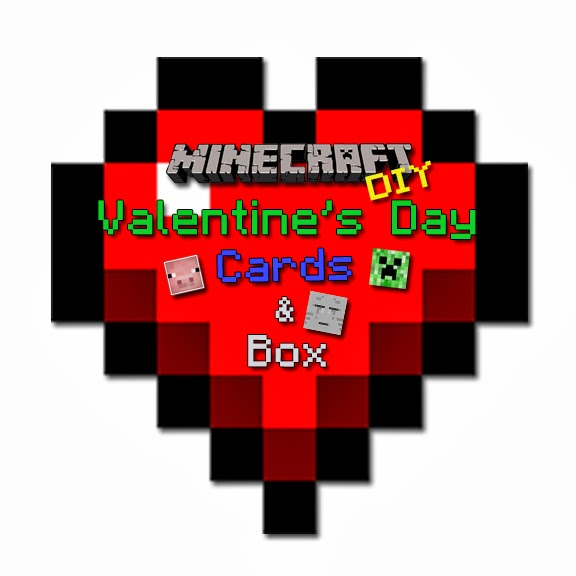 picture about Minecraft Valentine Box Printable named Cies Resourceful Crafts: Do it yourself Minecraft Valentine Playing cards Box