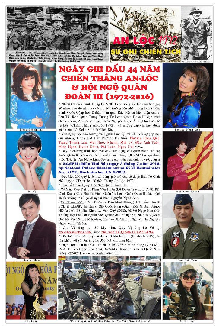 Kỷ Niệm 44 năm trân chiến An Lộc