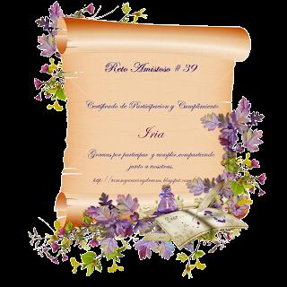 Certificado reto 39
