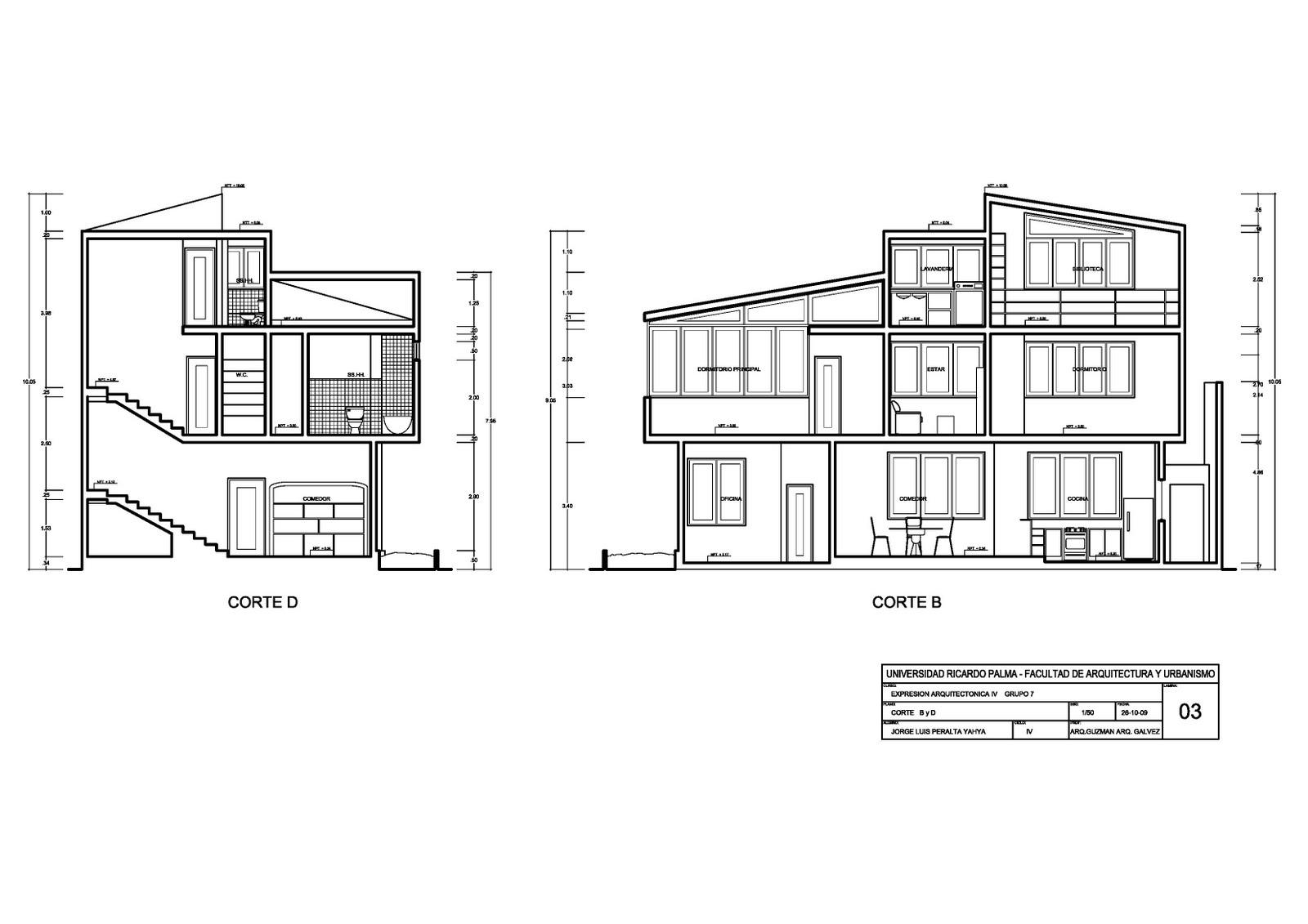 Expresi n arquitect nica 4 planos de arquitectura for Planos arquitectonicos vivienda
