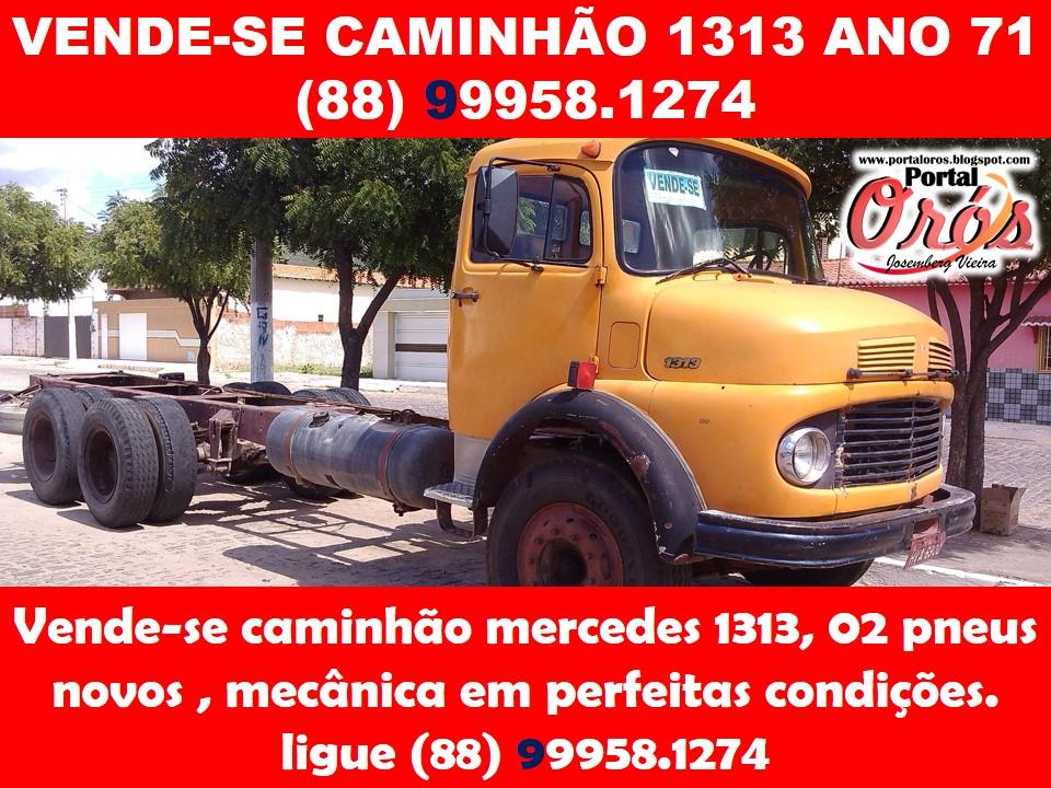 VENDE-SE CAMINHÃO 1313 ANO 71  (88) 99958.1274