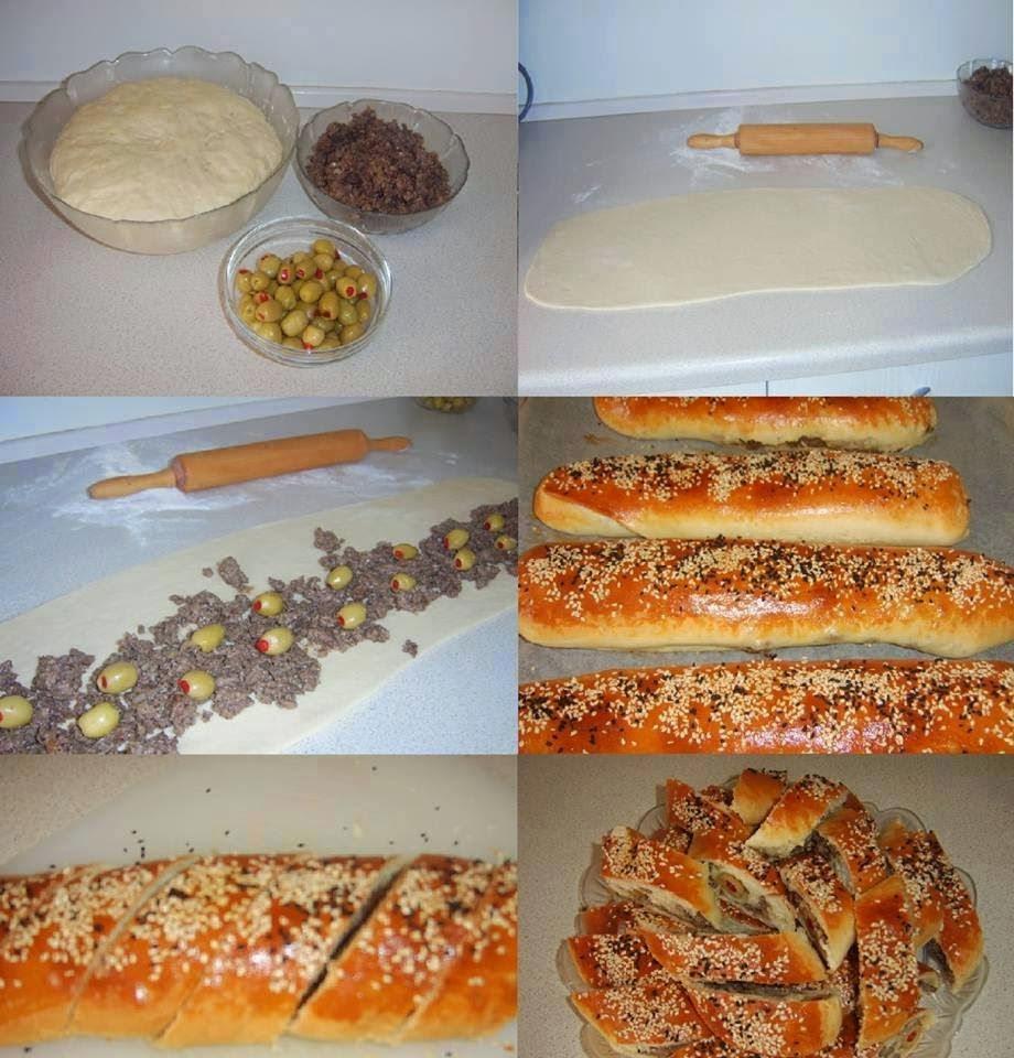 طريقة عمل فطائر اللحمة والزيتون