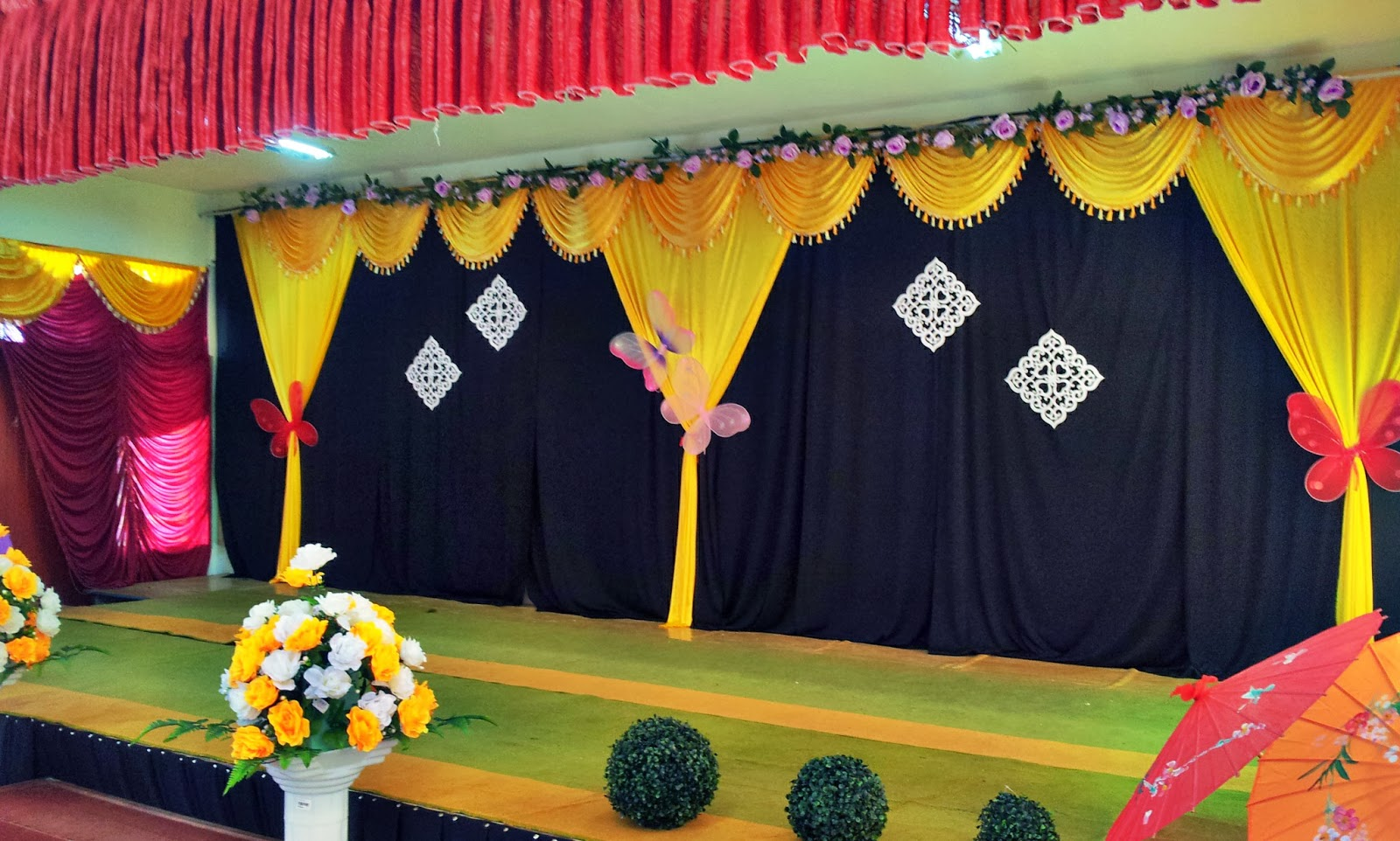 School hall decorations ideas home design and decor reviews for Annual function decoration