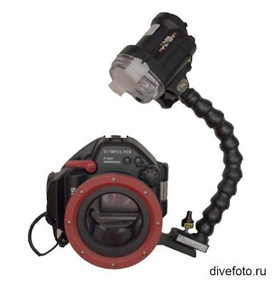 Фотоаппарат для подводной съемки Olympus EPL и вспышка Sea&Sea