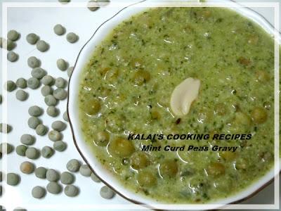 Mint Curd Peas Gravy II | Pudina Thayir Pattani Gravy || | புதினா தயிர் பட்டாணி கிரேவி