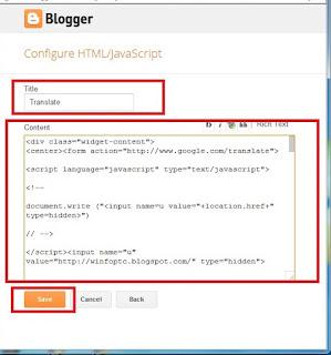 adding code and saving by winfoptc