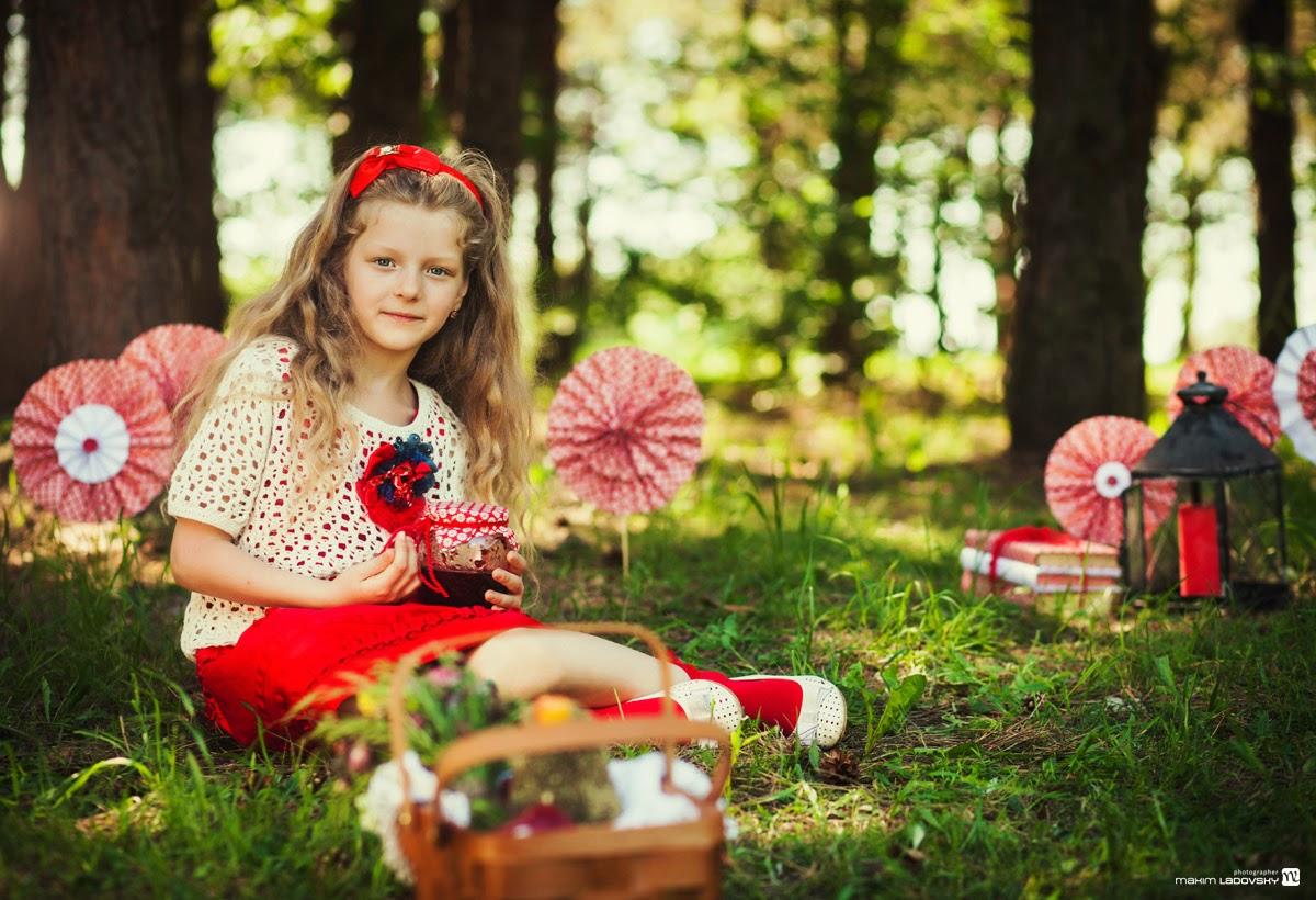 детская фотосъемка в лесу