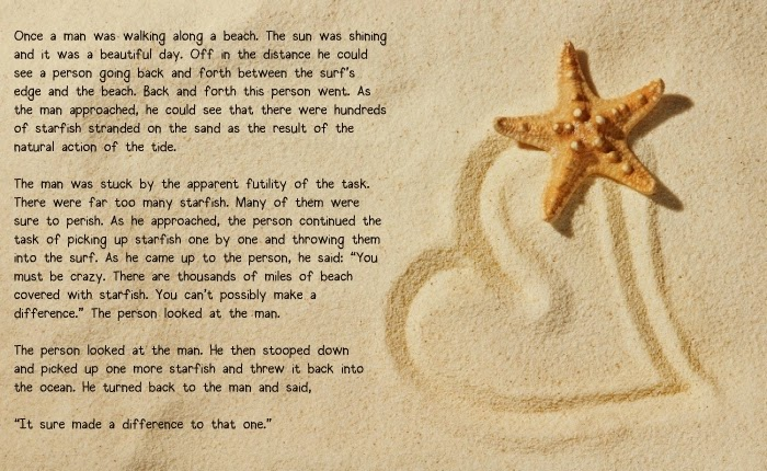 Pin difference starfish making a the story on pinterest