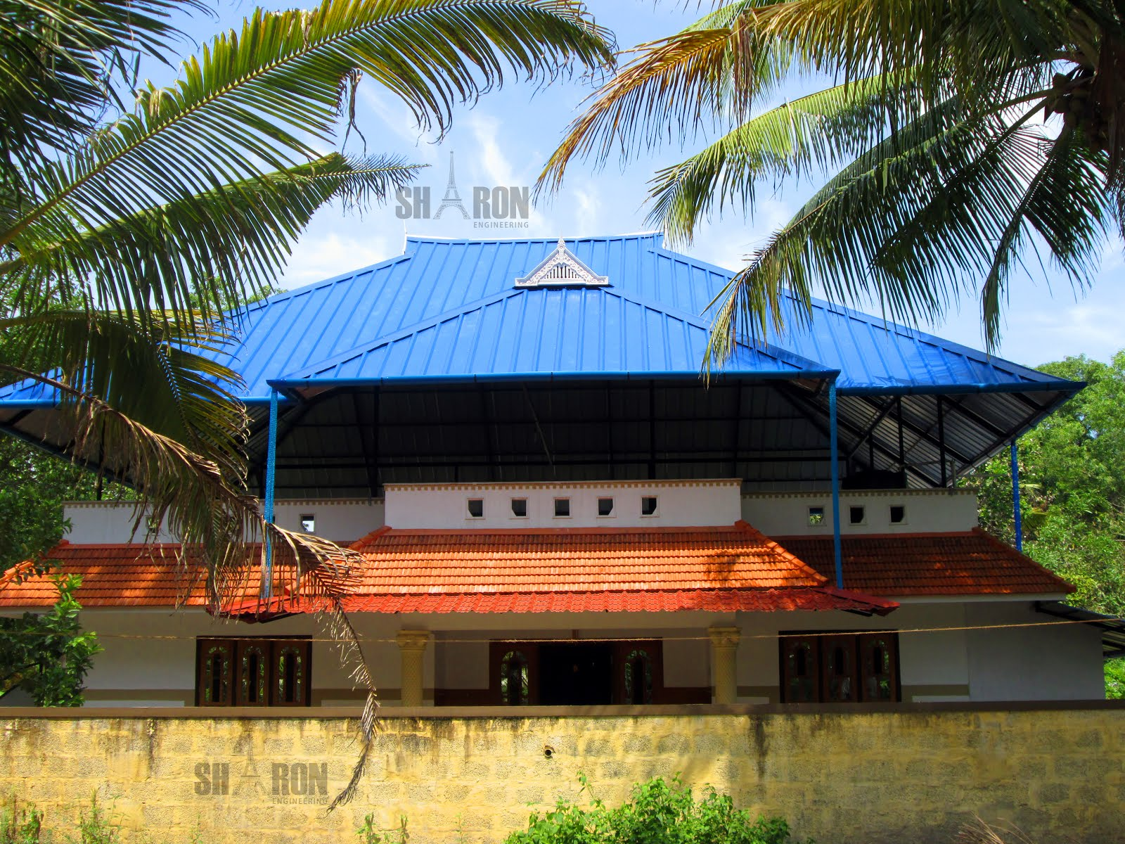 Iron works truss work in alappuzha for Truss designs for homes