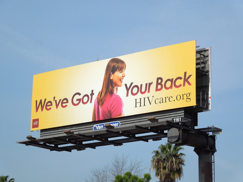 got your back HIV yellow billboard