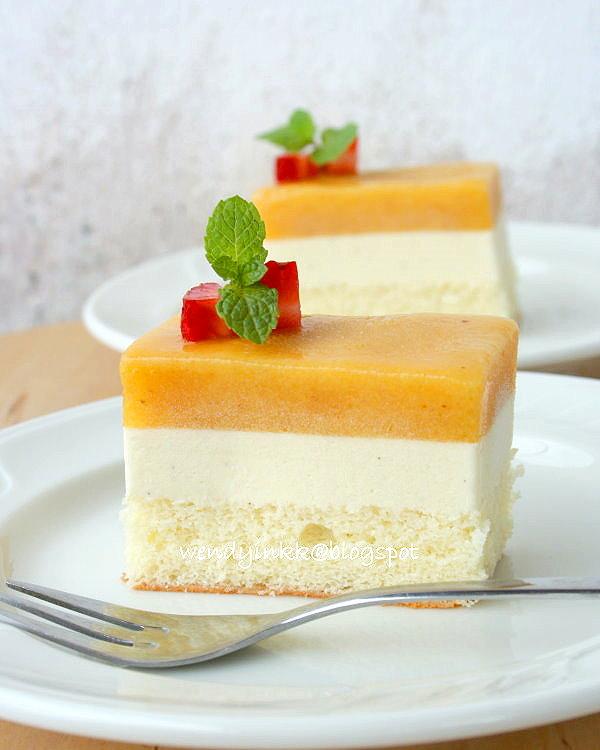 Table for 2.... or more: Peach Sorbet Vanilla Ice Cream Cake - Stone ...