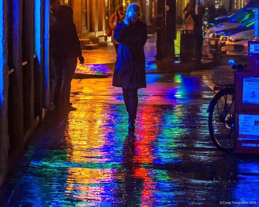 Portland, Maine December 2014 Commercial Street sidewalk glow photo by Corey Templeton