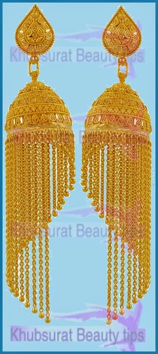 gold jhumkas earring