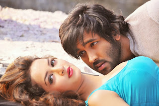 Shanvi with Vishnu in Rowdy Movie Songs Stills Spicy Pics