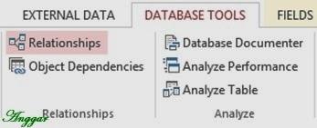 Menu relasi database