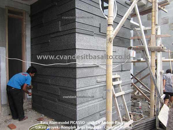 batu alam dinding teras