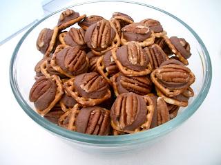Brooke Bakes Chocolate Pecan Pretzel Bites