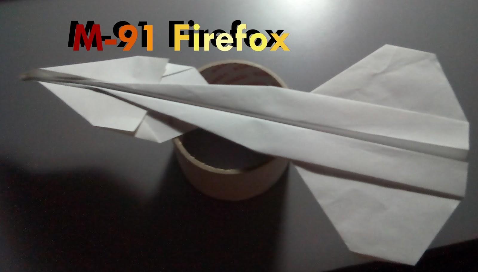 Avión de papel M-91