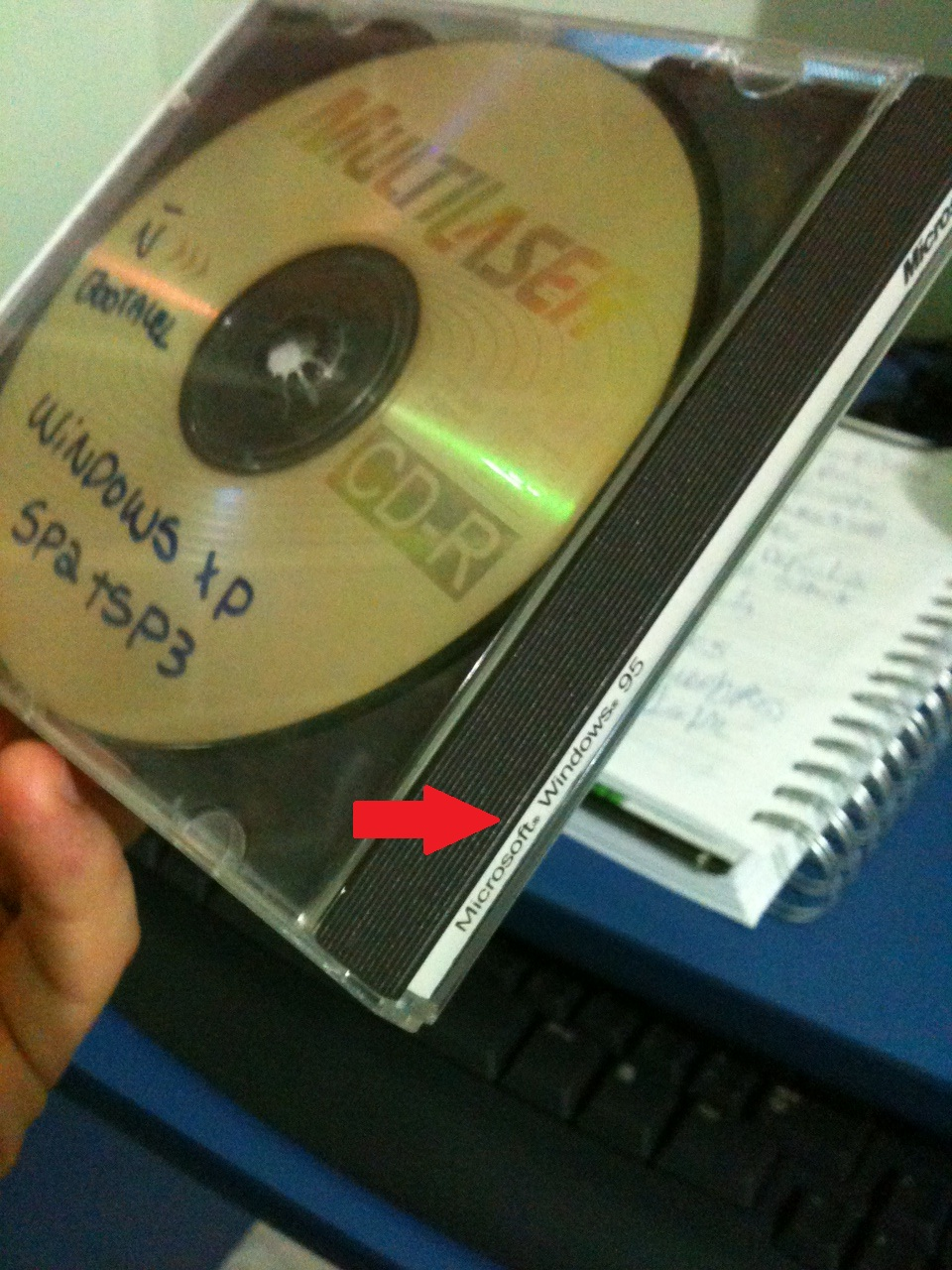 caixa cd windows 98