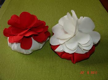 Flores de tecido com cheiro a alfazema