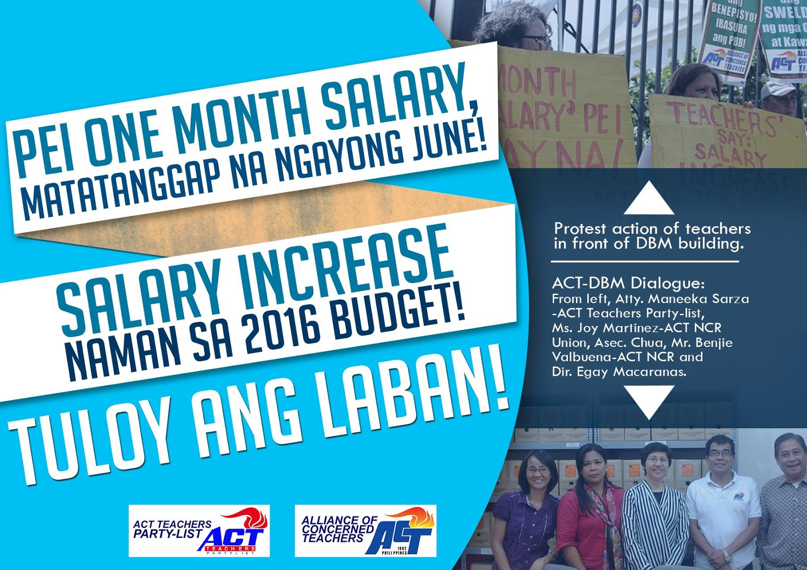 pei for teachers and salary increase 2016 pnoy talks pei for teachers 1 month salary