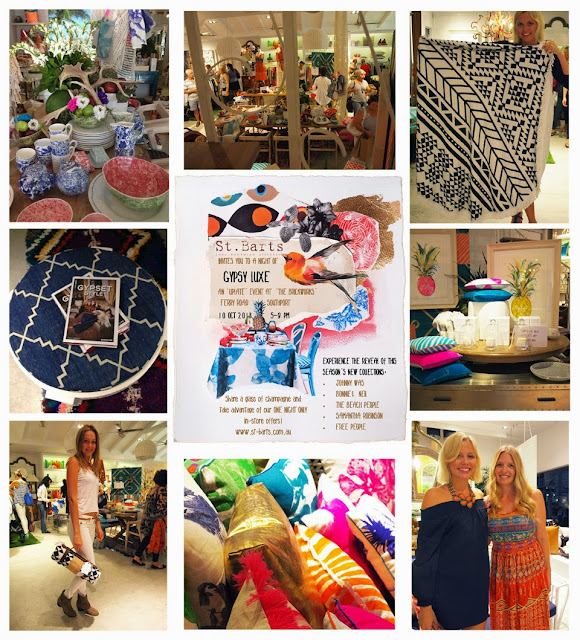 gypset style, bohemian, bonnie and neil, Samantha Robinson, pineapple, art, St Barts, bohemian, event, Brickworks