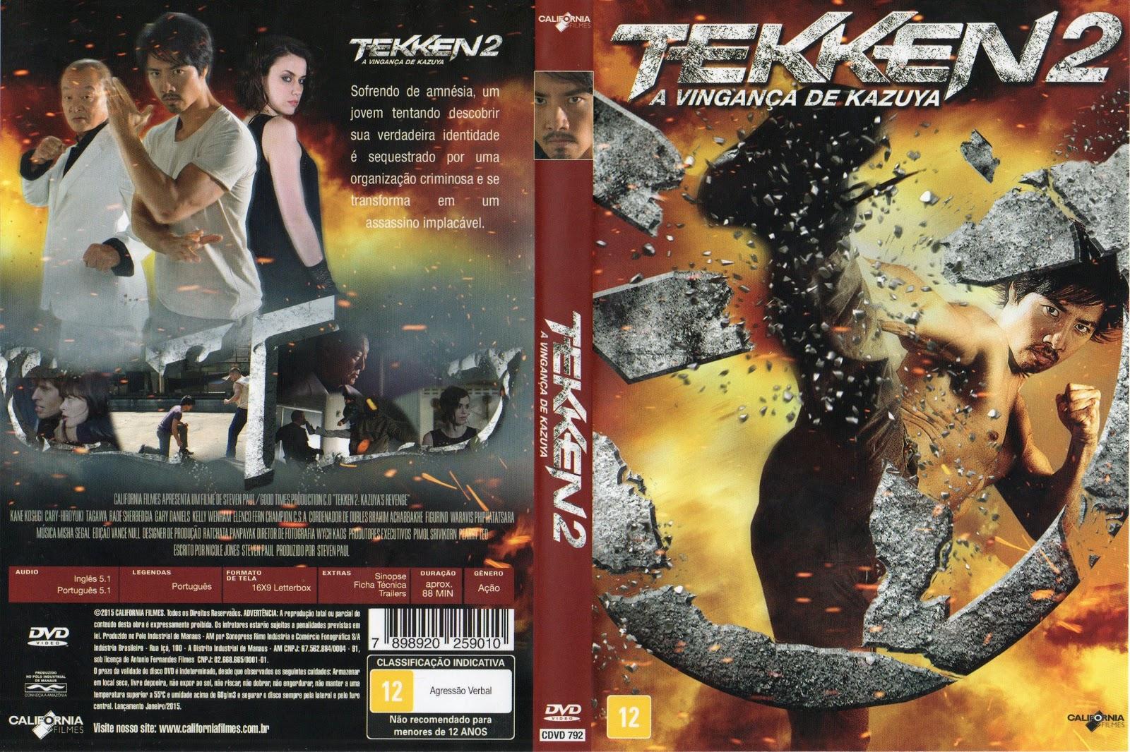 Capa DVD Tekken 2 A Vingança De Kazuya