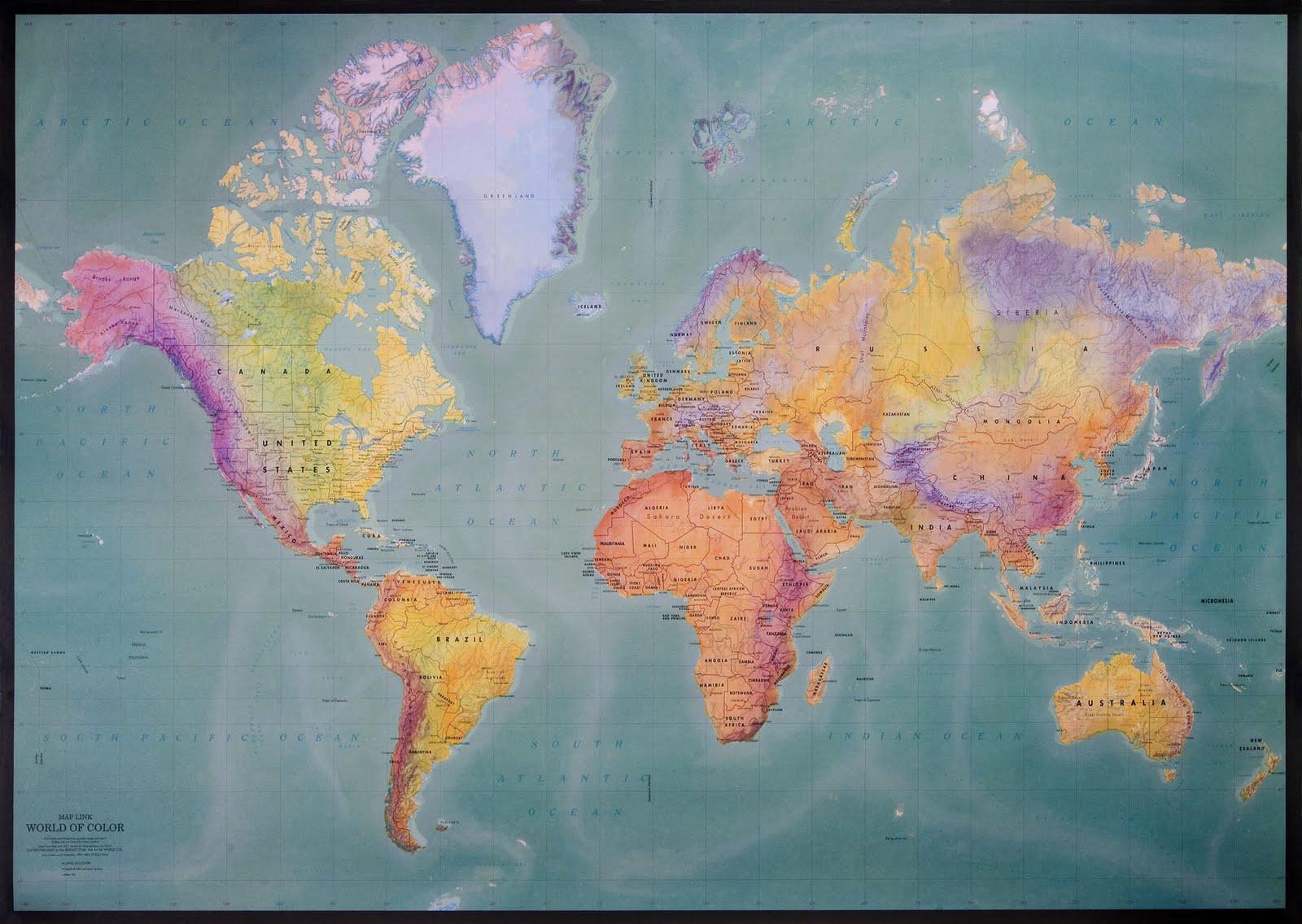 Inform tica para docentes recursos mapa mundi - Papel pintado mapa del mundo ...