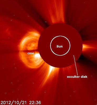 Una llamarada solar clase M1.3, 21 de Octubre 2012