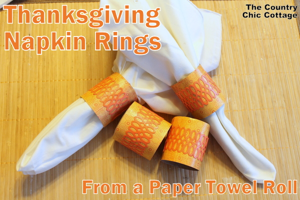 Thanksgiving Paper Napkin Rings