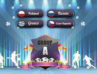 Euro 2012 logo and group A