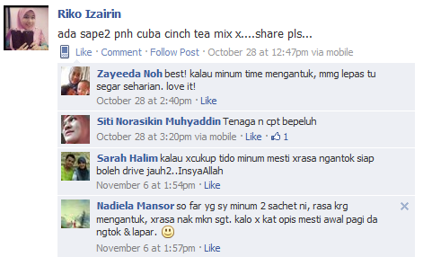 testimoni cinch tea