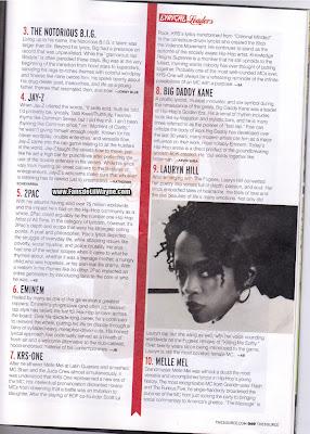 lista de los 50 mejores letristas de la revista the source