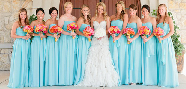 New wedding dresses for young: September colors for bridesmaid dresses
