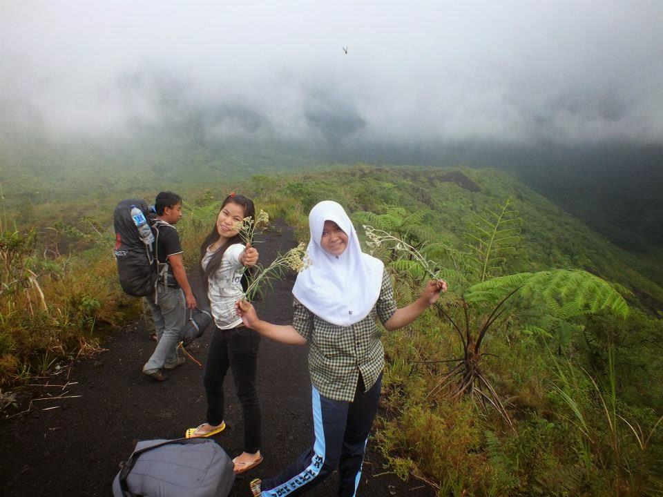 Pemandangan Di Atas Kawah Gunung Galunggung