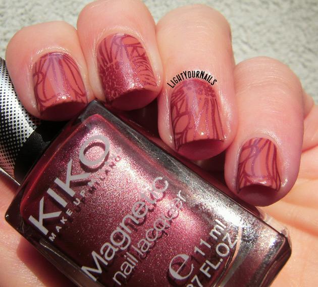 Monochromatic nail stamping