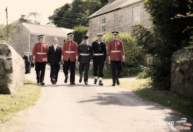 military wedding cornwall
