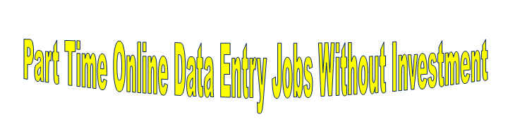 Part Time Online Data Entry Jobs From Home
