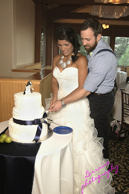 mountain wedding cake cutting