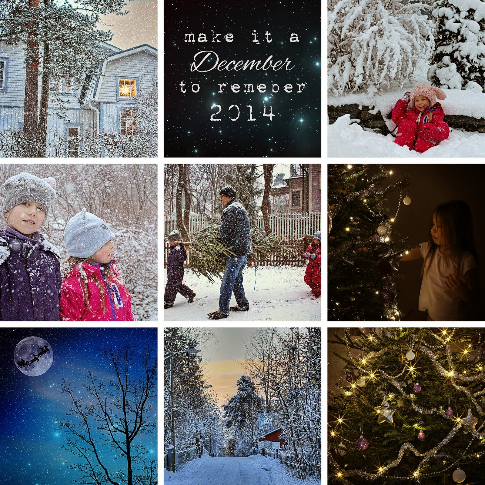 Monas Picturesque December Memories A Free Template For 2015