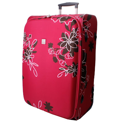photo Tripp raspberry flower suitcase Debenhams