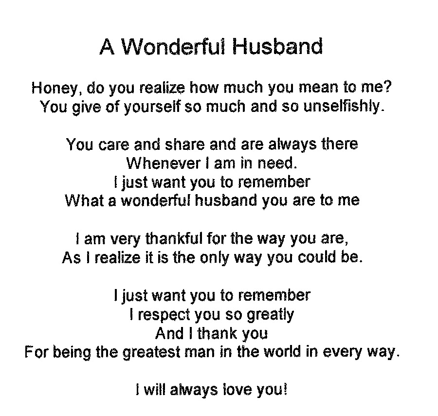 You are not only my husband, but my friend.