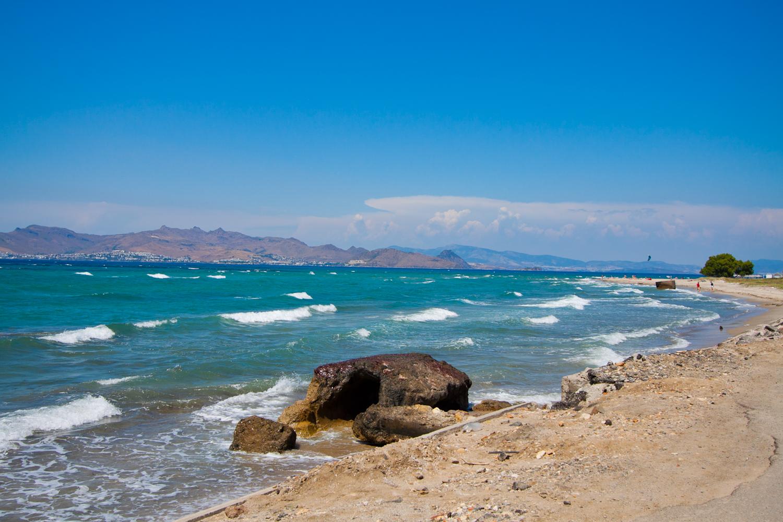 plaża na greckiej wyspie kos