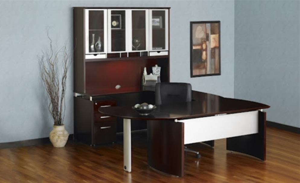 Mayline Napoli Series Mahogany Executive Desk