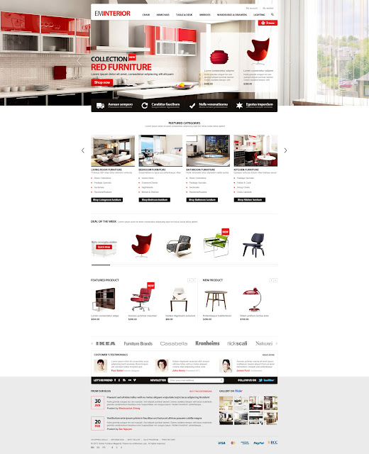 EM Interior - Furniture Magento Theme
