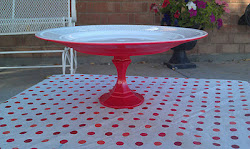 Apple Red Platter (SOLD)
