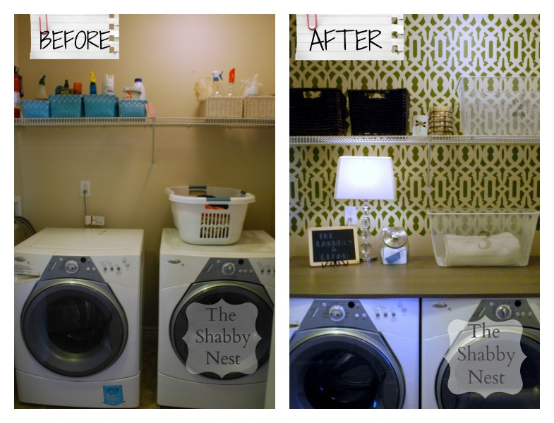 The Shabby Nest: Laundry Room Reveal: Before and After