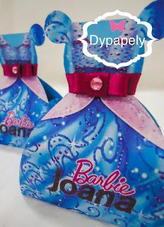 Caixinha tipo Vestido para balinhas confete